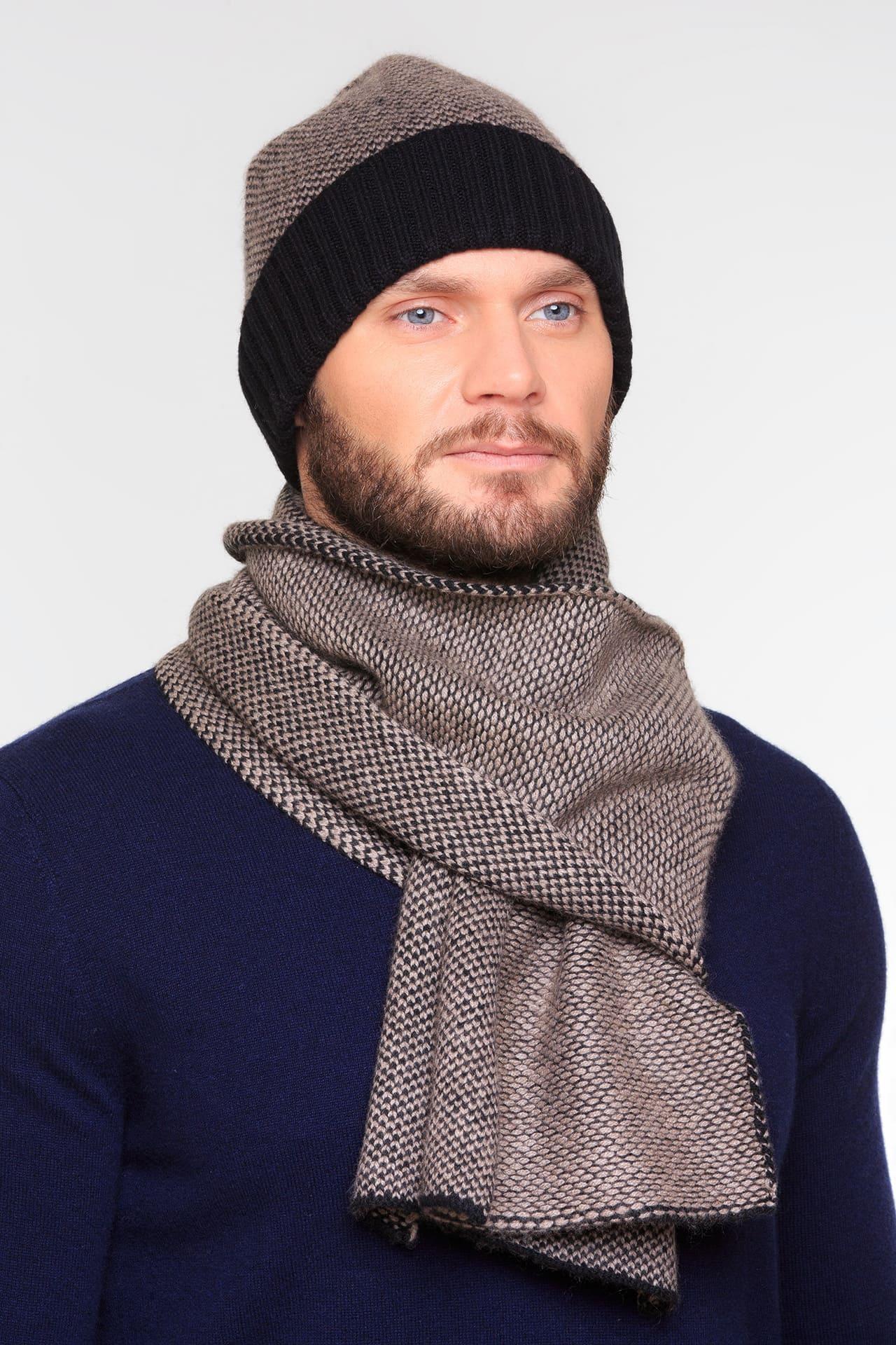 Кашемировый шарф меланж