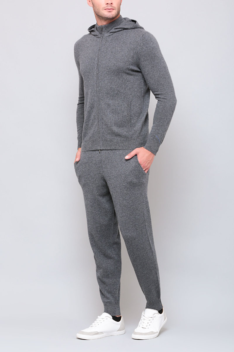 Темно-серые брюки из кашемира