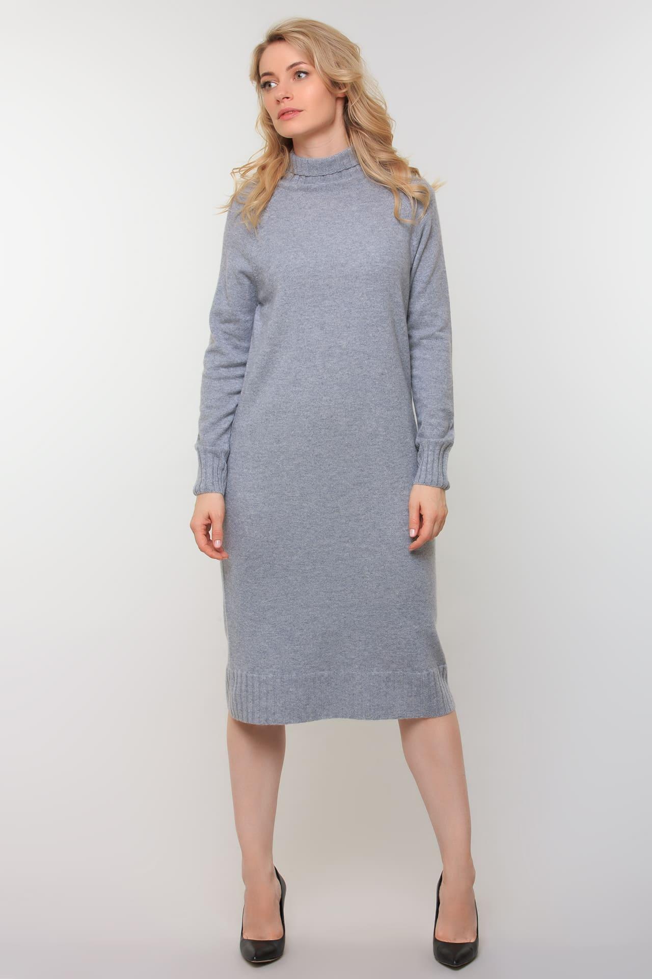 Кашемировое платье с длинным рукавом