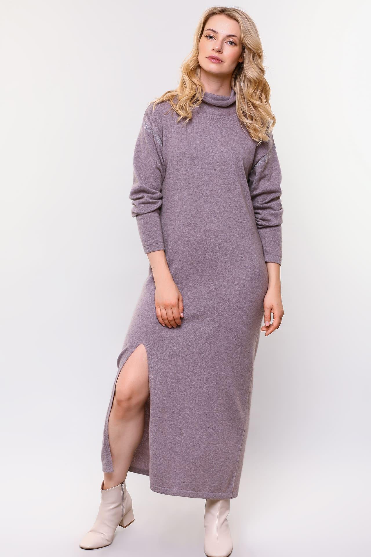 Длинное платье из кашемира