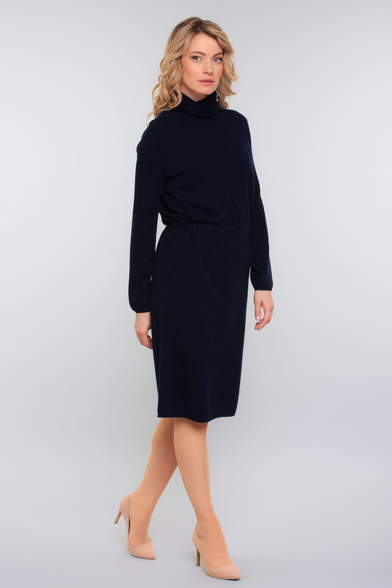 Кашемировое платье с кулиской